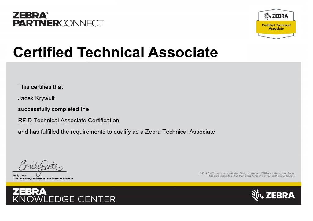 RFID Polska jest certyfikowanym partnerem Zebra
