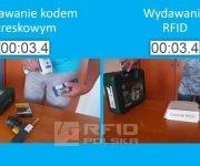 Porównanie szybkości pracy kodem kreskowym i RFID