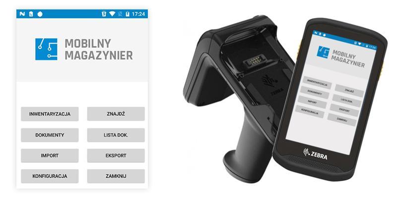 Aplikacja Mobilny Magazynier na kolektorze RFID