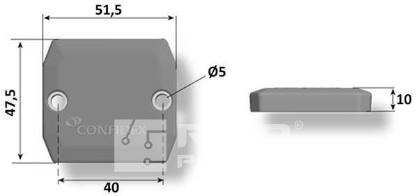 znacznik RFID UHF do znakowania palet, pojemników lub kontenerów w produkcji