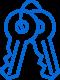 Ikona kontroli dostępu poprzez RFID