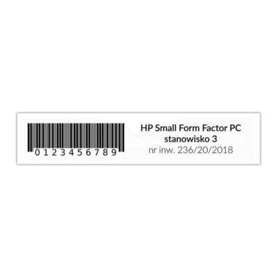 Etykieta inwentaryzacyjna do zadruku RFID UHF