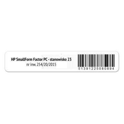 Etykieta RFID UHF do inwentaryzacji