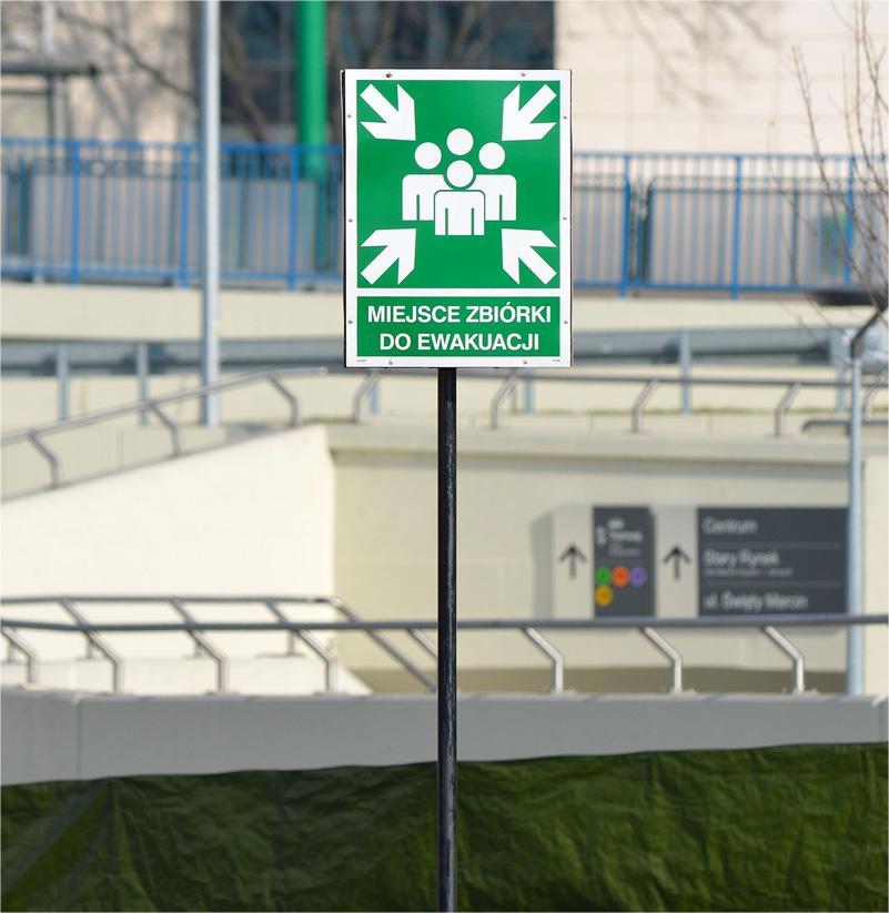 Symbol ewakuacji z wykorzystaniem RFID