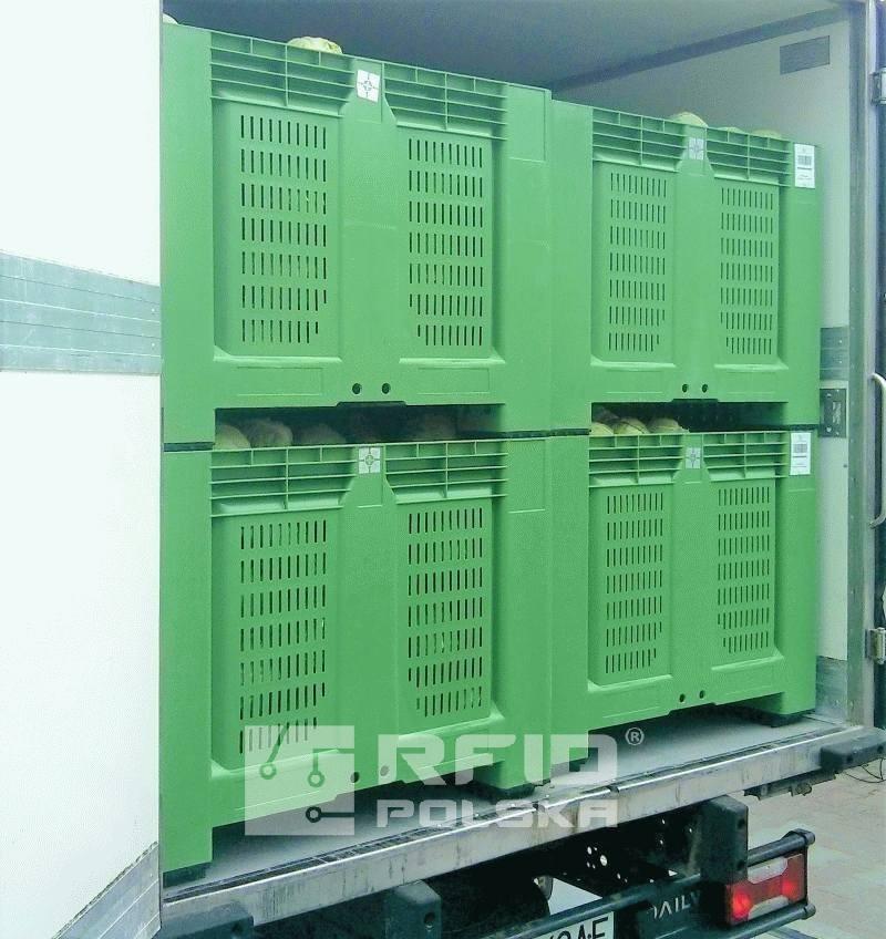 znakowanie opakowań zwotnych skrzyń plastikowych, kontenerów, zarządzanie obiegiem opakowań