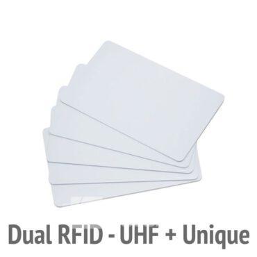 Karta zbliżeniowa dualna RFID UHF Unique