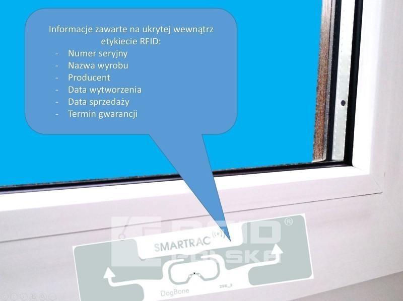 znakowanie wyrobów RFID w produkcji przemysłowej okien