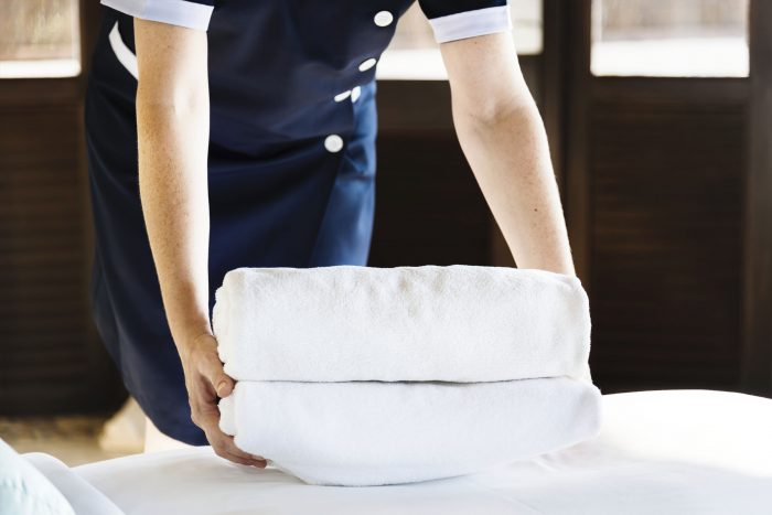 Znakowanie hotelowych ręczników tagami RFID
